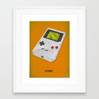 gameboy Framed Art Prints featuring GameBoy by Vloh