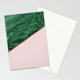 Green Marble with pink Stationery Cards