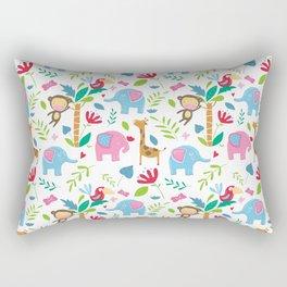 Kids Jungle Pattern Rectangular Pillow