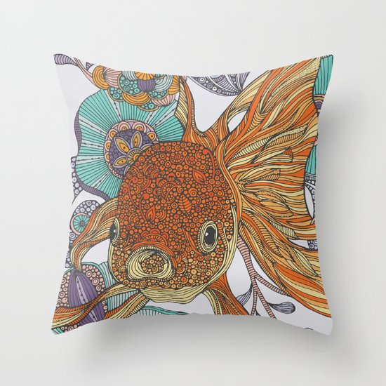Little fish throw pillow by valentina harper society6 for Fish throw pillows