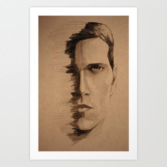 HALF FACE Art Print