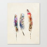 feathers Canvas Prints featuring feathers by bri.buckley
