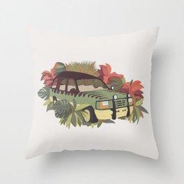 Jurassic Car Throw Pillow