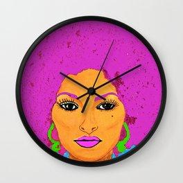 Pam Grier aka Jackie Brown c 1970's Diva Wall Clock