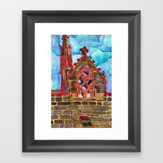 lit up in red Framed Art Print