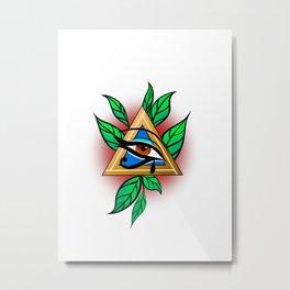 Neo-Trad Eye (Colour) Metal Print