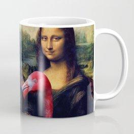 Mona Lisa and Her Flamingo Coffee Mug