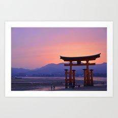Miyajima Torii at Sunset Art Print
