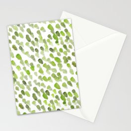 Imperfect brush strokes - olive green Stationery Cards