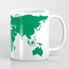 world map green Coffee Mug