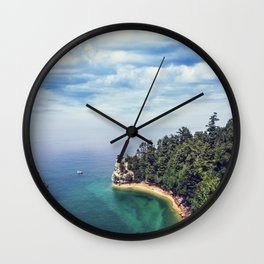 Miners Castle rock formation Wall Clock