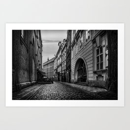 Route to Old Town Square Art Print