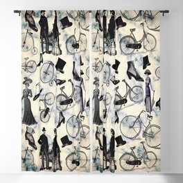 Victorian Bicycles and Fashion Blackout Curtain