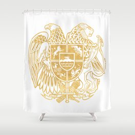 ARMENIAN COAT OF ARMS - Gold Shower Curtain
