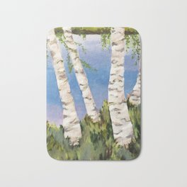 Four Birch on the Lake Badematte