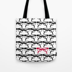 Optometrist Eye Glasses Black Pattern Print Tote Bag