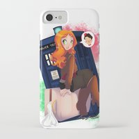 amy pond iPhone & iPod Cases featuring Doctor Who - Amy Pond by Lucy Fidelis