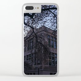 UW Cherry Blossoms Clear iPhone Case