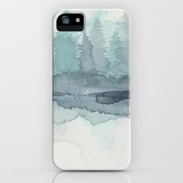 Pines in the Morning Mist iPhone Case