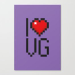PAUSE – I Love Video Games Canvas Print