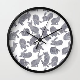 Bunny Poses Wall Clock