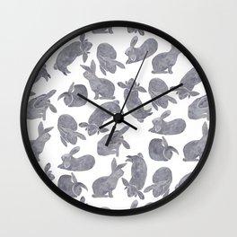 Bunny Poses Wall Clock