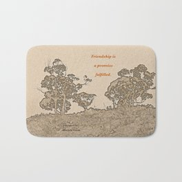 """Catalina Trees #2"" with poem: Simple Friendship Bath Mat"