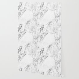 White marble hexagonal beehive Wallpaper