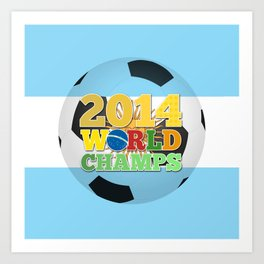 2014 World Champs Ball - Argentina Art Print