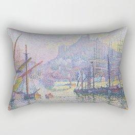 View of the Port of Marseilles Rectangular Pillow