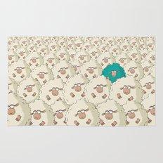 Sheep Pattern | Turquoise Rug