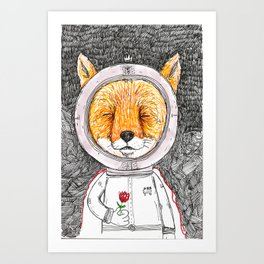 Le Petit Fox  Art Print