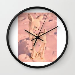 Kitschy deer fawn Wall Clock