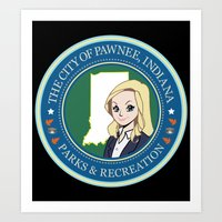 parks and rec Art Prints featuring Parks & Rec. by BlackRose Designs