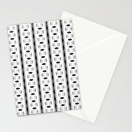 Retro-Delight - Continuous Chains (Oval) - White Stationery Cards