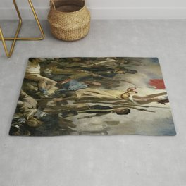 Eugene Delacroix's Liberty Leading the People Rug