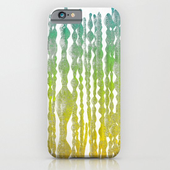 psychedelic stripes - green iPhone & iPod Case