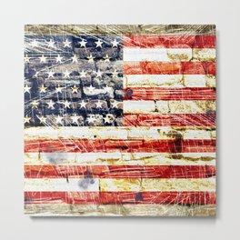 U.S. State Flag Metal Print