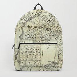 Vintage Map of Denver CO (1879) Backpack