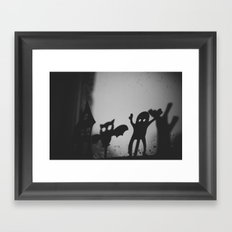 Shadowplay {mono} Framed Art Print