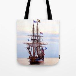 Kalmar Nykel Tall Sails Ship Photograph Print Tote Bag