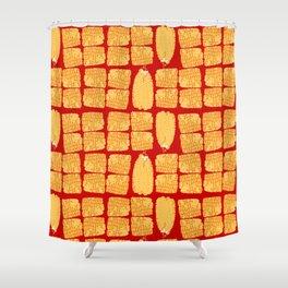 corn on the cob Shower Curtain