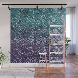 Purple Aqua MERMAID Glitter Scales Dream #2 #shiny #decor #art #society6 Wall Mural