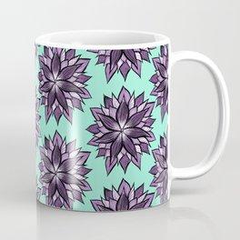 Purple Mandala Like Abstract Flower Coffee Mug