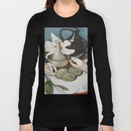 Kiwi fruit & Lillies Long Sleeve T-shirt