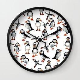 Puffins pattern Wall Clock
