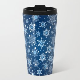 Snowflake pattern Travel Mug