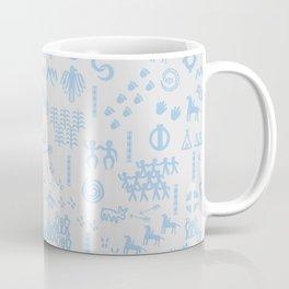 Peoples Story - Blue on Grey Coffee Mug
