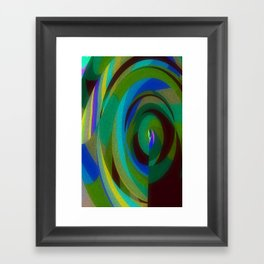 Green Oval Abstract Framed Art Print