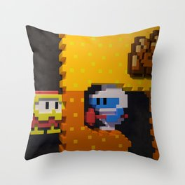 Inside Dig Dug Throw Pillow
